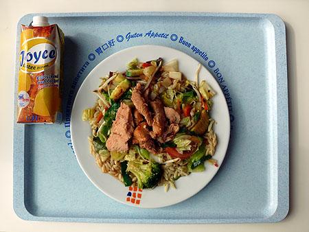 Wok-Gericht mit lecker mariniertem Putenfleisch