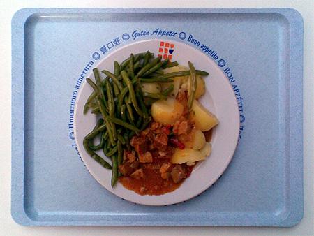 Ungarischer Paprikagulasch mit Kartoffeln und Bohnen: für nur 1,50 € kann man da wirklich nichts verkehrt machen!